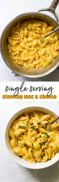 Easy stovetop mac and cheese made with simple ingredients and less than 15 minutes start to finish! #cheese #pasta #macandcheese #comfortfood #easyrecipes #cheddarcheese #fontina #recipesforone via @april7116