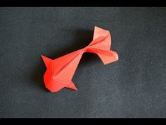 Origami: Fish Koi ( Riccardo Foschi ) - New Ideas Origami Fish Easy, Chat Origami, Design Origami, Instruções Origami, Origami Simple, Origami And Kirigami, Origami Dragon, Origami Bookmark, Origami Butterfly