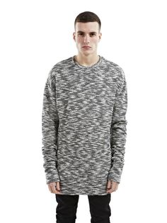 Haris Seoudy | Represent Slub Knit Sweater Black