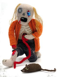 Free Knitting Pattern for Zombie Doll
