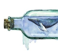 Wal-Grafik Aquarell Malerei mit dem Titel von TheColorfulCatStudio