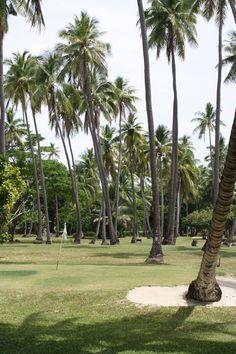 Beautiful golf course on Vomo Island Resort Fiji