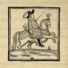 Digital Graphic General on Horse Printable Illustration Download Image Vintage Clip Art for Transfers etc HQ 300dpi No.1708 @ vintageretroantique.etsy.com #DigitalArt #Printable #Art #VintageRetroAntique #Digital #Clipart #Download