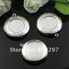 DIY 33mm Fashion Necklace,Pendant Silver European style Prayer Craft Photo Frame Locket Box,Jewelry Finding 50pcs/lot € 36,13