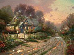 Painting & Co - Thomas Kinkade - Teacup Cottage - England (1996)