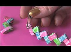 How To Make A Candy Wrapper Bracelet