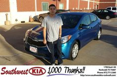 https://flic.kr/p/GMmLpT | Congratulations Damone on your #Kia #Forte from Chris Johnson at Southwest KIA Rockwall! | deliverymaxx.com/DealerReviews.aspx?DealerCode=TYEE