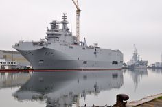 French built naval vessel for the Russian Navy. The Sevastopol isn't going anywhere with sanctions.  Something about Ukraine, I figure.
