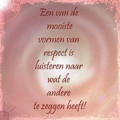 #respect #luisteren