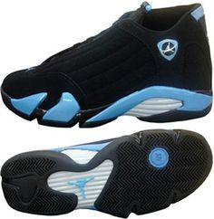 Air Jordan 14 Retro Black University Blue Metallic Silver ca6175461