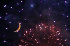 moon behind fireworks  @ Phillip's Natural World