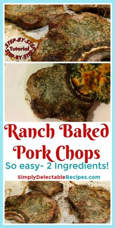 Want a recipe that only has 2 ingredients? This super easy baked pork chop recipe is for you! Using only 2 ingredients, this recipe is quick to put together. If you don't have bone in pork chops, that's ok, because you can easily use boneless as well. Is it summer time? Then this is also a great pork recipe for the grill. via @jacquelineSDR