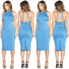 WEBSTA @ judybluejeans - Be a Denim Dame in our new denim midi dress! Available now @nakedwardrobe #madelocally #madeinlosangeles #midi #dress #denim #regram #superstretchy