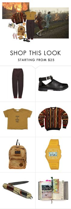 """""""You say you're used to playin' with fire"""" by wildflower-witch ❤ liked on Polyvore featuring Boutique, ASOS, JanSport, Casio and Suck"""