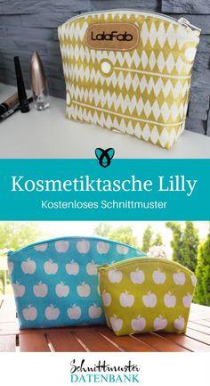 Kosmetiktasche nähen Schnittmuster kostenlos Lilly gratis Freebie Freebook