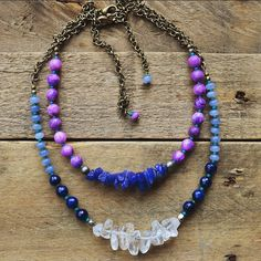 Summer ready crystal jewelry from Vagabond and Myth. #bohemian #summerstyle #vagabondandmyth