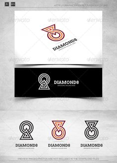 Diamond Ring - Eight Billiards - Logo Template by katzeline [Diamond 8 Triangle Circle Logo Design, Circle Logos, Best Logo Design, Graphic Design, Photography Logos, Social Photography, Buy Diamond Ring, Book Logo, Triangle Logo