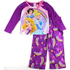 Disney Princess Girls Fantasy Nightgown Pajamas (3T, Ariel Mermaid ...