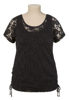 Allover Lace Tee - maurices.com