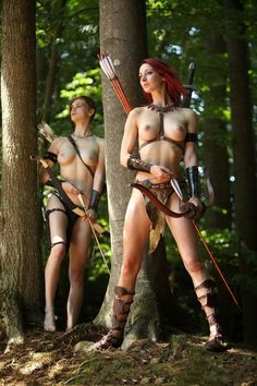 Amazon Woman Warrior Male Slave | » Female Cosplay » TV Movie » Amazon Celtic Red Haired Warriors ...