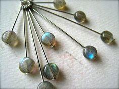 lightning storm necklace - labradorite mod necklace, sunburst, handmade, organic, ethereal, N12, labradorite jewelry on Etsy, $78.00