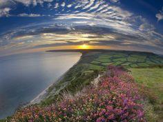 Sunset over Dorset, England