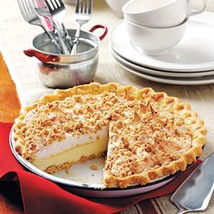 Peanut Butter Meringue Pie Recipe -My four sons clamor for the peanut butter pie. My mom found the recipe from a farmwife magazine in the 1960s, and now I'm teaching our sons' wives to make it. —Judy Hernke, Mundelein, Illinois