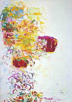 Joan Mitchell, Sunflower III, 1969. Oil on canvas 112 1/2 x 78 1/2 inches (285.8 x 199.4 cm). Smithsonian American Art Museum