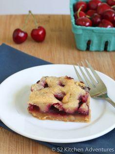 Gluten free cherry pie square