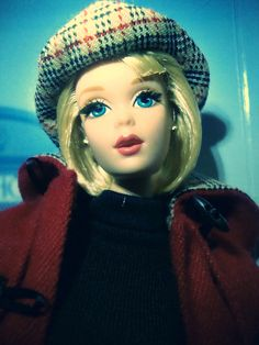 Burberry® Barbie® Doll | Japan ... Doll Japan, Burberry Prorsum, Barbie Collection, Barbie Dolls, Captain Hat, Disney Characters, Fictional Characters, Digital Art, Label