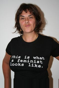Tracey Emin in 'this is what a feminist looks like' t-shirt What Is A Feminist, Feminist Art, Tracey Emin Art, Artist Workspace, Selling Art, Make Art, Artist At Work, Female, T Shirt