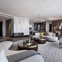 Wuhan Greenland Center Apartment design by CCD / Cheng Chung Design (HK) - arrival lobby on first floor, reception on sky lobby on the and President Mansion on floors. Wuhan, H Design, House Design, Le Palace, Mansion Interior, Room Interior, Luxury Interior Design, Lounge Areas, Modern Luxury