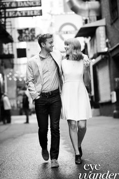 Streets of Nashville Engagement Photography, casual engagement photos