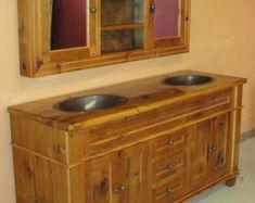 Arched BarnWood Vanity with Drawers Reclaimed Wood Vanity, Rustic Vanity, Reclaimed Barn Wood, Vanity Set Up, Plumbing Installation, Old Barn Wood, Dovetail Drawers, Metal Drawers, Batten