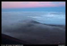 Sea of clouds, Mauna Kea, Big Island, Hawaii.