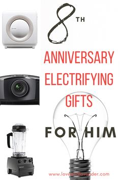 Celebrate your 8th anniversary with an electric appliance gift for your husband (and the house) and keep the love burning for years to come!   #anniversarygiftideas #weddinganniverasry #anniversarygifts #electricapplianceanniversarygifts