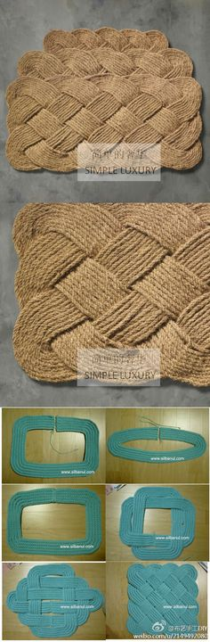 use straps of fabric then woven...