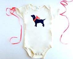 Labrador Baby Bodysuit Organic Lab Retriever Clothes % ANIMAL RESCUE Infant Clothing Snapsuit Romper Baby Shower Gift Red, 3-6 mo, 9-12 mo by BestInShore on Etsy https://www.etsy.com/listing/195838662/labrador-baby-bodysuit-organic-lab