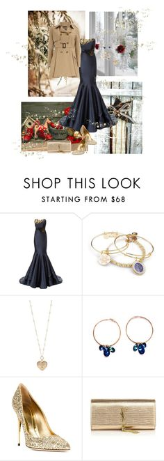 """""""gh"""" by zorka ❤ liked on Polyvore featuring Marchesa, Alex and Ani, Betsey Johnson, Sebastian Milano, Yves Saint Laurent and Dorothy Perkins"""