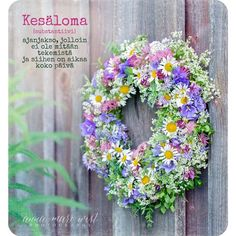 Flora Garden, Anna, How To Make Wreaths, Houseplants, Live Life, Summertime, Floral Wreath, Thoughts, Words