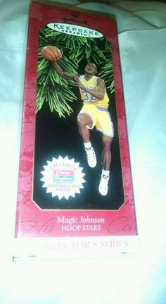 Hallmark/ Keepsake Ornament/ Collector Series NIB!/Magic Johnson/Fleer/1997