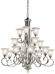 Kichler 43192NIL16 - Monroe Chandelier 16Lt LED in Brushed Nickel