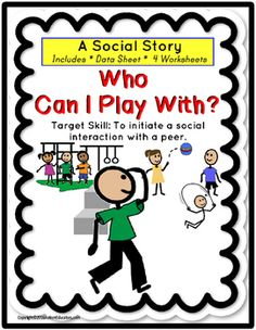 Social Story for Autism Target Skill - INITIATE A SOCIAL I