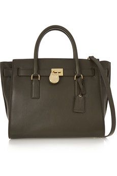 MICHAEL Michael Kors Traveler larger leather shoulder bag | THE OUTNET