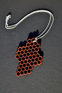 love this laser cut mahogany necklace made by my sister!!