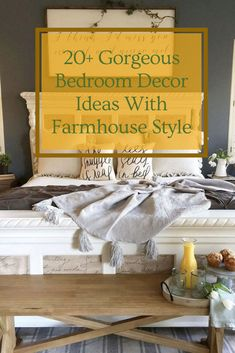 20+ Gorgeous Bedroom Decor Ideas With Farmhouse Style #bedroom #bedroomdecor #bedroomdecorideas Bedroom Design Trends, Gorgeous Bedrooms, Bedroom Themes, Modern Bedroom, Bedroom Storage, Modern Bedroom Design, Bedroom Accessories, Boys Bedroom Furniture, Bedroom Diy