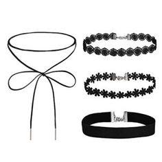 Black Velvet Ribbon Gothic Necklace