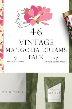 Introducing Mangolia Dreams Pattern Handmade Pack Handmade collection of vector floral and patterns. Fully editable and can be used in various design projects branding, greeting cards, social media posts, print , decor & digital advertisements, product designs, wedding invitations and many more.