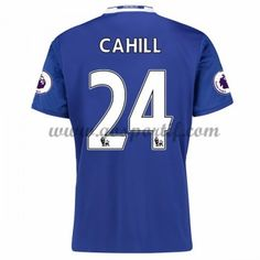 maillot de foot Premier League Chelsea 2016-17 Cahill 24 maillot domicile