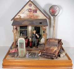 Old Service Station 1:12 Scale Dollhouse Miniature | Flickr - Photo Sharing!